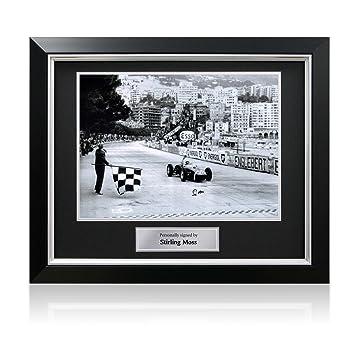 71eda97f372 Stirling Moss Signed Formula One Photo  Monaco Grand Prix. In Deluxe ...