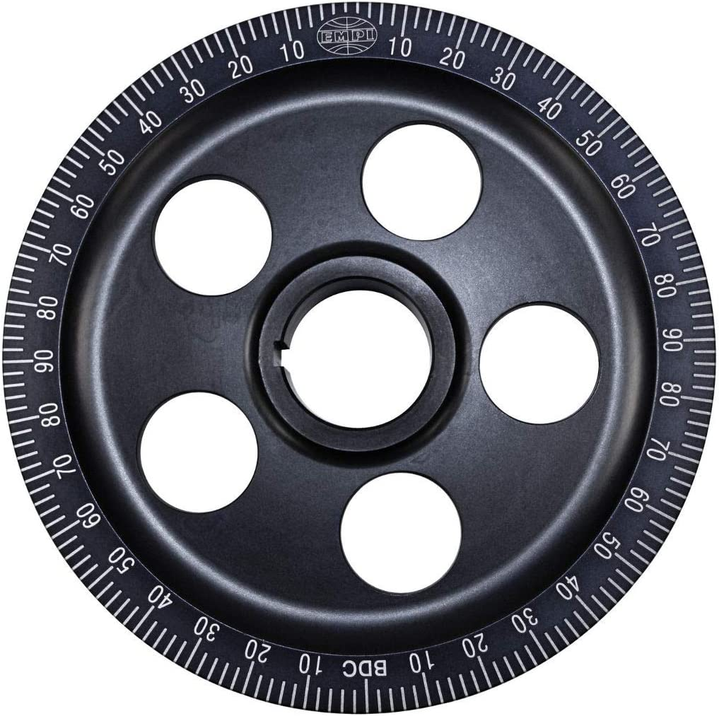 EMPI 00-9114-0 Polished Stock Size Aluminum Pulley w//Holes Black Numbers