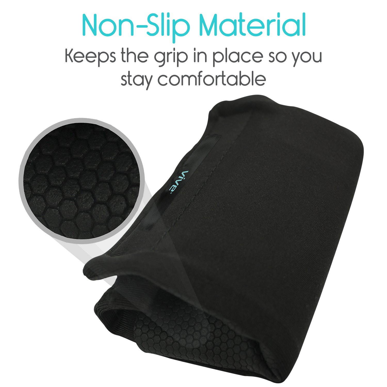 Vive Walker Padded Hand Grip Covers- Soft Cushion Padding Medical Accessories for Folding Rolling Walker, Rollator Handle, Senior, Elderly Grippers - Crutch Handle Pads - Mobility Aid Hand Cushion by Vive (Image #5)