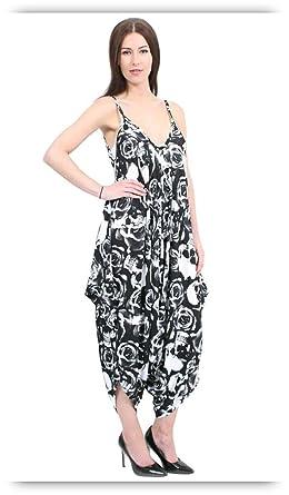 6334af57dea6 Urban Fashion Women s Army Skull Rose Leopard Strappy Harem Jumpsuit Free  Size Fits 8