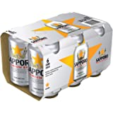 Sapporo Premium Beer Canned, 330ml (Pack of 6) (Alcohol 5.0%)