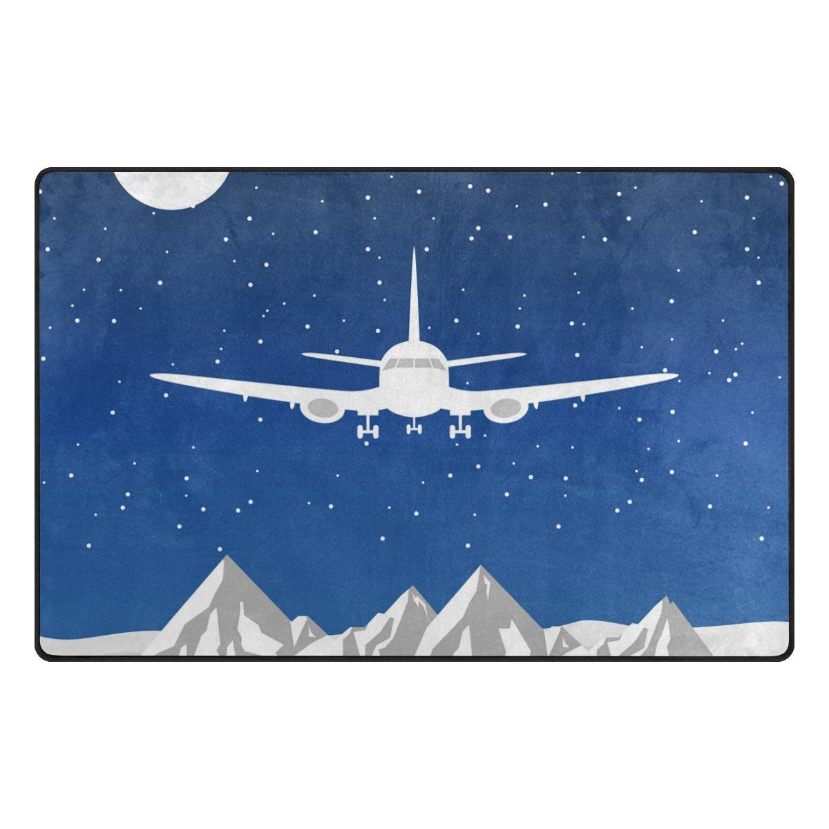 Benni giry Rango de avión Alfombra antideslizante Diario de DF920felpudos para salón dormitorio 78,7x 50,8cm, poliéster, multicolor, 31 x 20 inch