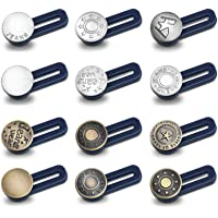 12 Stuks Tailleband Uitbreiding Voor Jeans Broek Knopen Extender Verstelbare Knopen Verstelbare Broek Knop Taille…