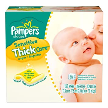 Pampers Sensitive Thick Baby Wipes Refill 180ct.