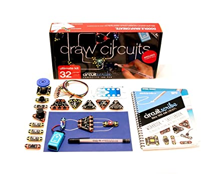 amazon com circuit scribe 32 piece ultimate kit includes magnetic rh amazon com