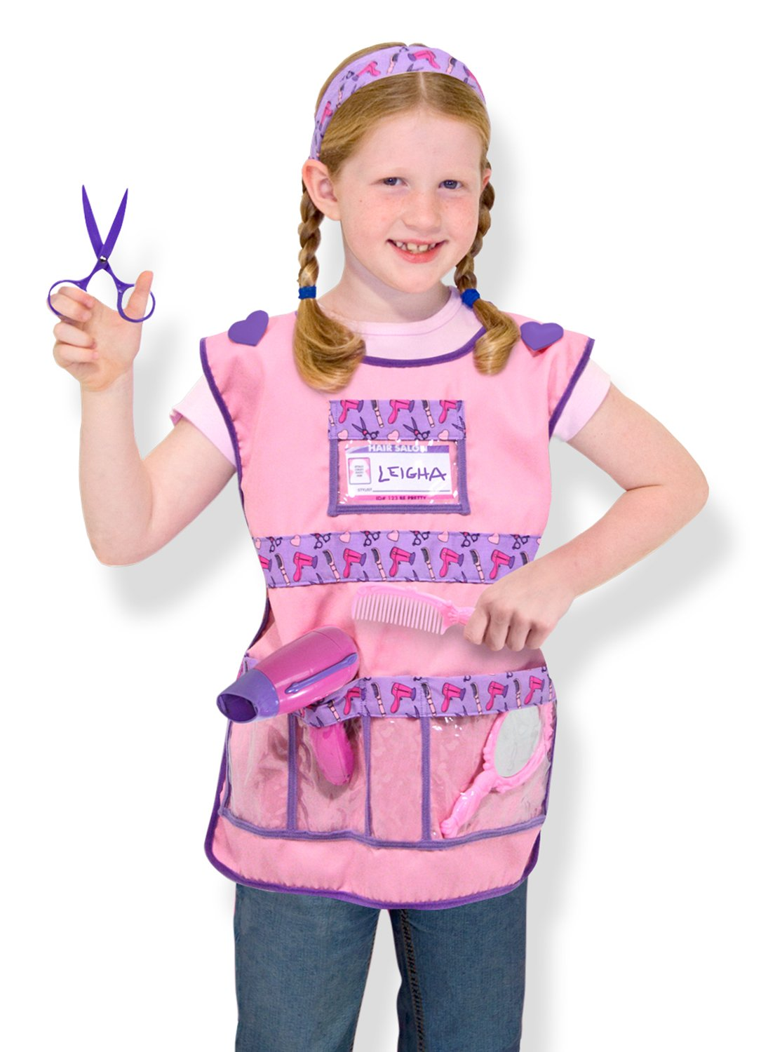 Amazon Melissa Doug Hair Stylist Role Play Costume Dress Up