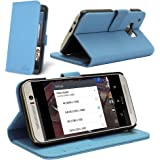 Celicious HTC One M9 (2015) Notecase W PU Leather Wallet Style Case - Blue