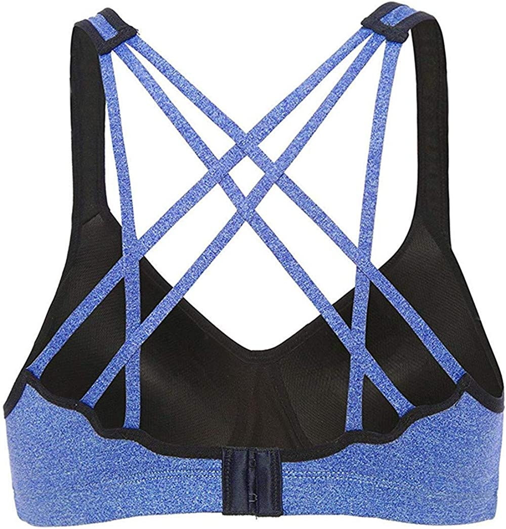 beautyin Womens Wireless Padded Sport Bra Crossback Yoga Bra Workout Tank Top