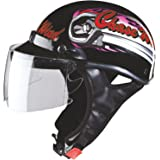 Studds Troy Sporting Chase Wind Open Face Helmet (Black, L)