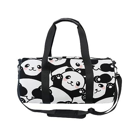 2dff1e097c2f Amazon.com : OuLian Gym Bag Cute Panda Women Yoga Canvas Duffel Bag ...