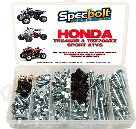 150pc Specbolt Honda TRX450R trx450er & trx700 XX Perno Kit para mantenimiento y restauración OEM Spec Fasteners Quad