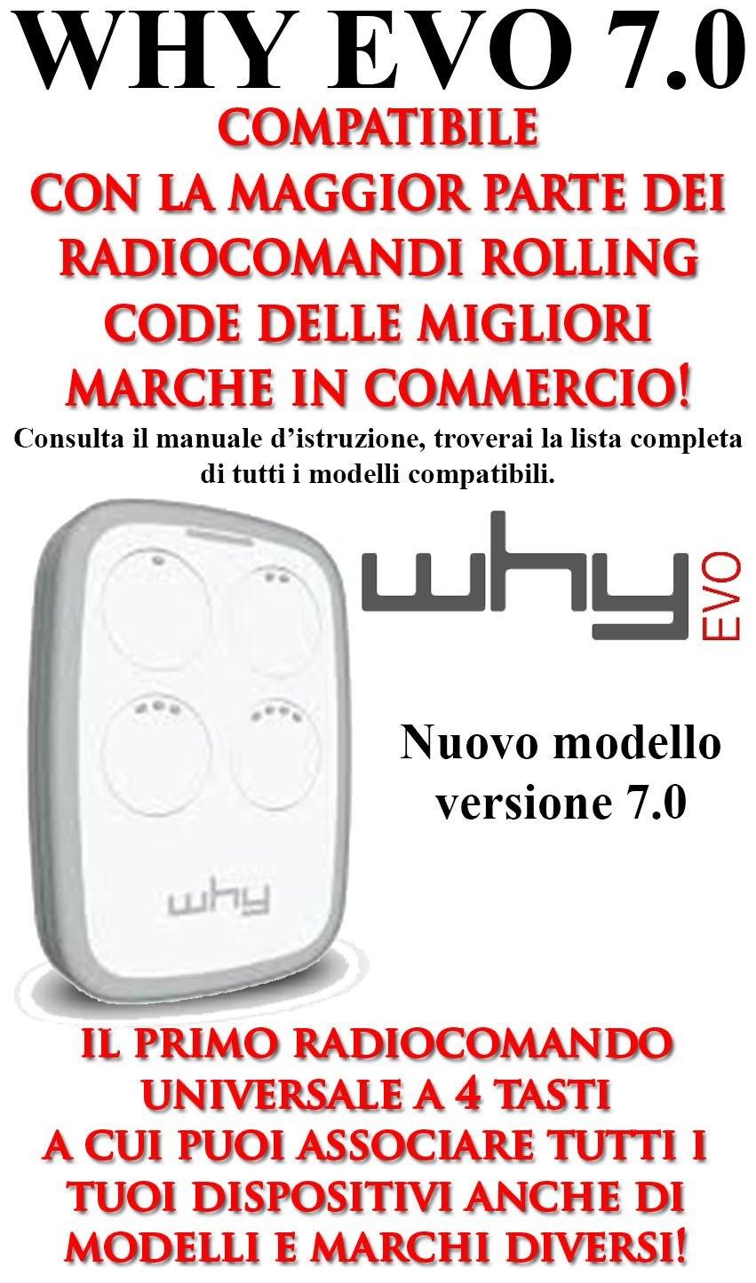 SICE - Telecomando Radiocomando Rolling code WHY EVO 7.0 (Bianco)