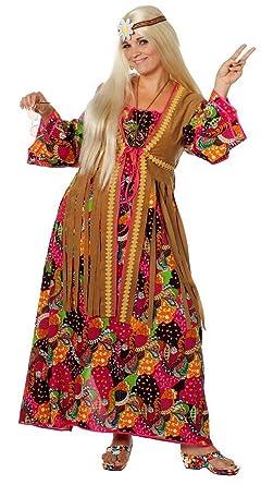 W4456 Bunt Damen Hippie Kleid Lang Partykostüm Amazonde Spielzeug