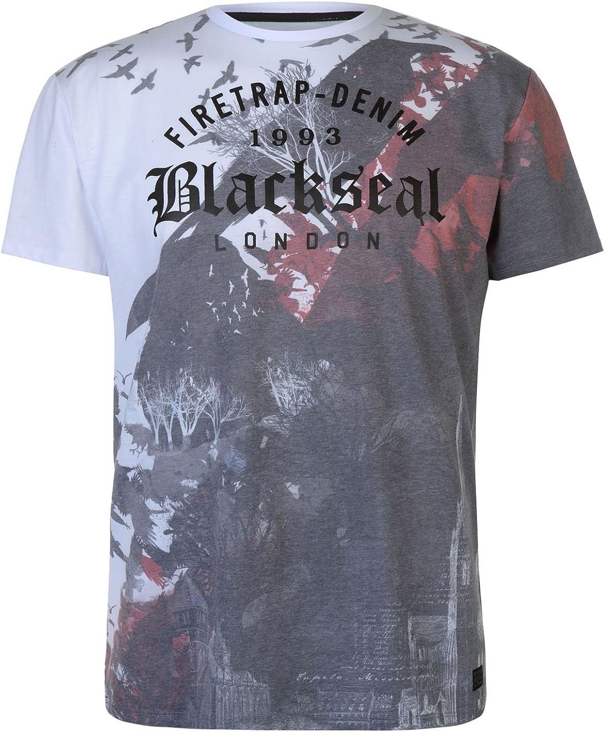 Firetrap Hombre Blackseal Camiseta Manga Corta Aves Blanco XL: Amazon.es: Ropa y accesorios