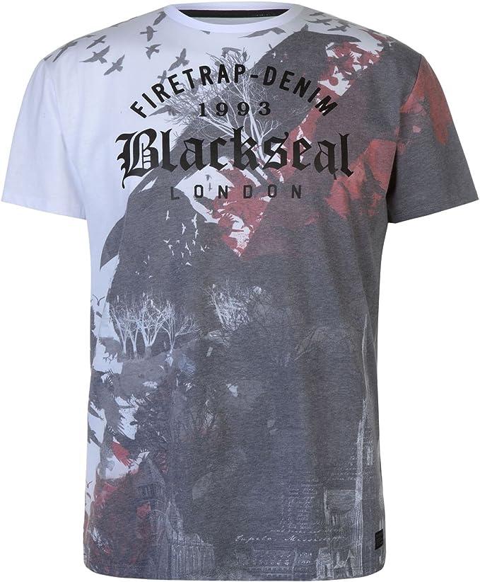 Firetrap Mens Dragon T Shirt Crew Neck Tee Top Short Sleeve Cotton Print