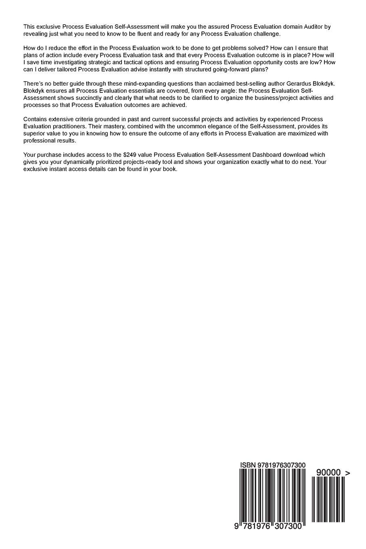 Process Evaluation Complete Self-Assessment Guide: Gerardus