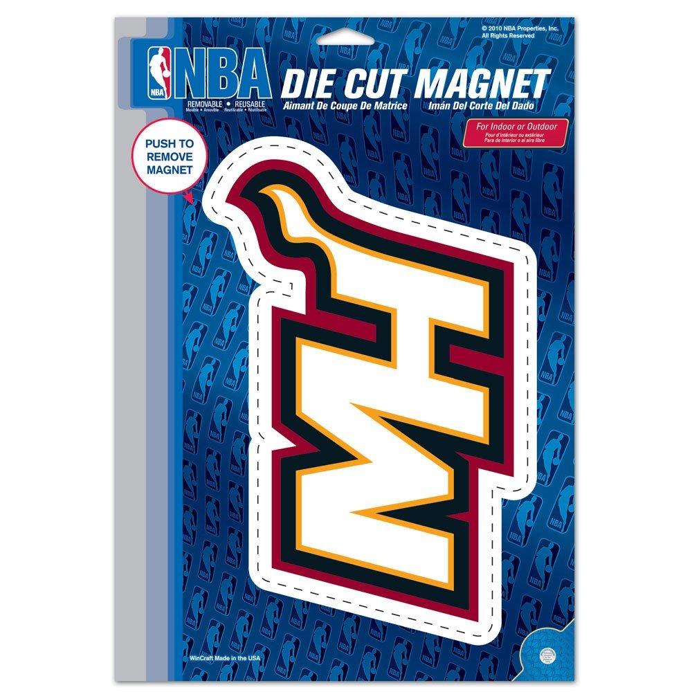 "Wincraft NBA Miami Heat Die Cut Logo Magnet, 6.25"" x 9"""