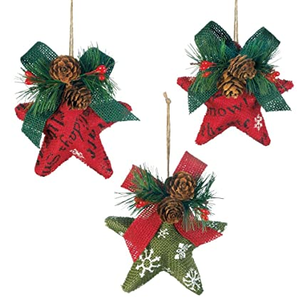 vintage christmas ornaments red and green stars beautiful christmas ornament set - Beautiful Christmas Ornaments