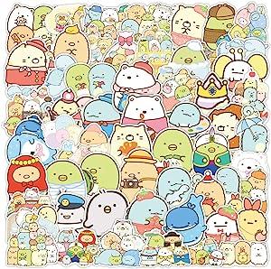 Sumikkogurashi Vinyl Stickers for Laptop 50Pcs Anime Cartoon Cute Animal Stickers for Water Bottle Laptop Skateboard Computer Hydroflask Notebook Phone,Waterproof Aesthetic Trendy Decals