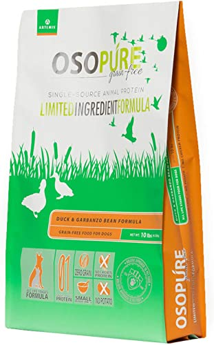 Artemis OSOPURE Dry Pet Food – Grain Free Limited Ingredient Single Dual Source Protein Nutrition All Life Stages for Dog Cat