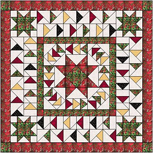 Quilt Kit Christmas Stars/Precut Ready to Sew/ChristmasFabrics by Material Maven