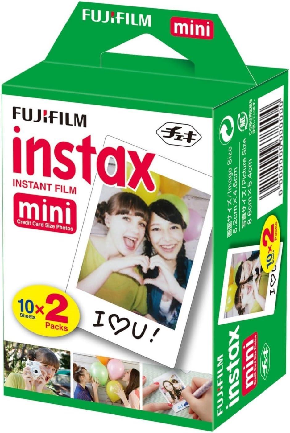 Fujifilm Instax Mini Film 20 Prints for Fuji 8 50s 25 7s 90 300, Full Color