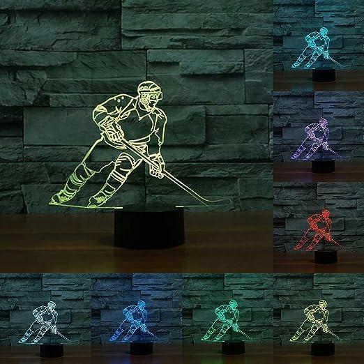 Rumocovo Hockey Sur Glace Lecteur 3d Led Lumiere De Nuit Montreal 7 Couleur Tactile Lampe De Table Pour Enfants Noel Cadeaux Anniversaire Cadeau Lampe De Chevet Amazon Fr Luminaires Et Eclairage