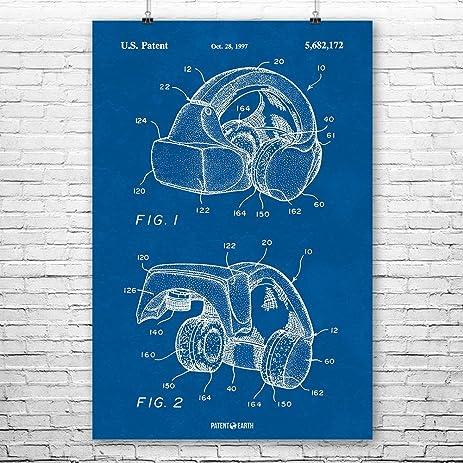 Amazon forte vfx1 virtual reality vr headgear poster patent forte vfx1 virtual reality vr headgear poster patent art print blueprint 12quot malvernweather Images