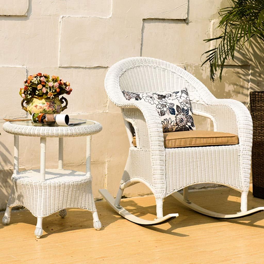 Rocking chair Silla Mecedora de Tres Piezas para Exteriores ...