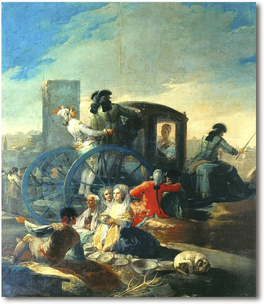 Cuadro Decoratt: El cacharrero - Francisco de Goya 35x41cm. Cuadro de impresión directa.