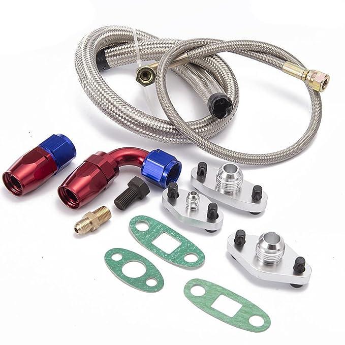 epman tk-wxb07 único Turbo aceite alimentación línea Kit de brida: Amazon.es: Coche y moto