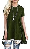 YILE SHU Women Casual Floral Print Cold Shoulder Short Sleeve Crisscross Front V Neck T Shirt Blouse Top(9 Colors)