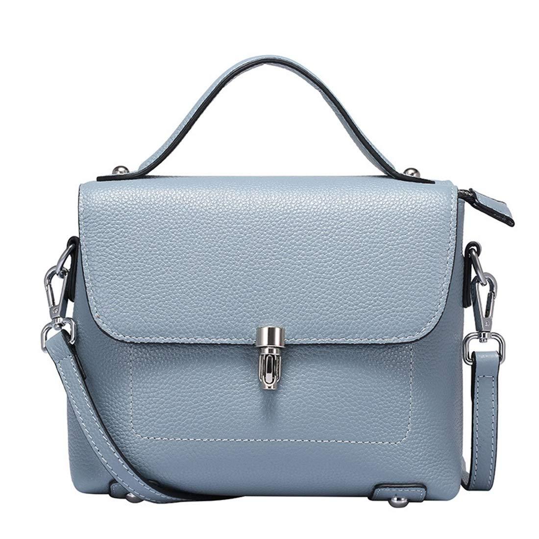 KERVINFENDRIYUN YY4 Einfache Retro Lock Limousine Grain Square Leder Schultertasche Schultertasche Schultertasche Messenger Bag (Farbe   Blau) B07M7BFWVV Umhngetaschen Schönes Aussehen f95c3f