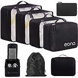 Eono by Amazon - 8 Set Cubos de Embalaje, Organizadores para Maletas, Travel Packing Cubes, Equipaje de Viaje…