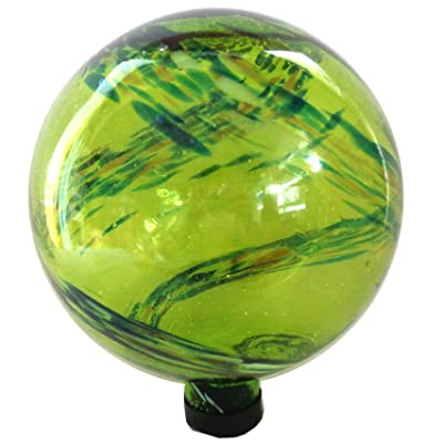 "Gardener Select 16BFG01 Green Glow N Dark Globe, 10"" : Garden & Outdoor"