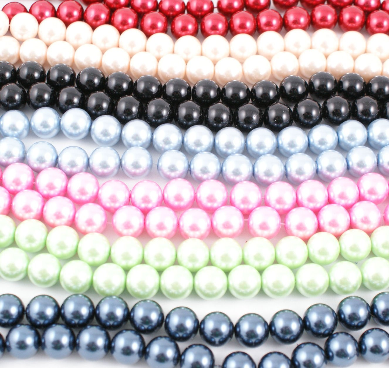 Glass Pearl Round Beads 18mm - Colour Choice (5-17)