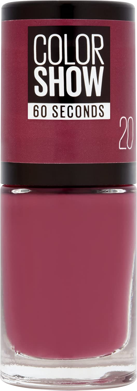 Maybelline New York Color Show, Esmalte de Uñas Secado Rápido, Tono: 020 Blush Berry