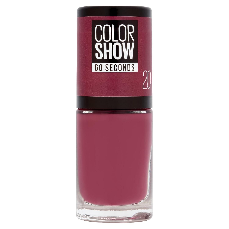 Gemey Maybelline Colorshow , Vernis à ongles ,20 BLUSH BERRY , Violet  Bordeaux