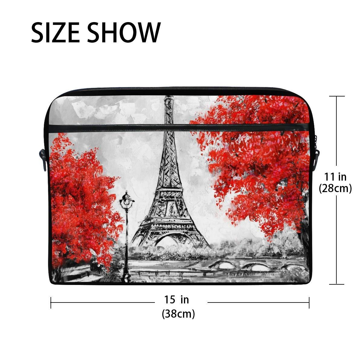 8a40e43eaa88 Amazon.com: TropicalLife Laptop Bag Retro Hand Drawn Paris Eiffel ...