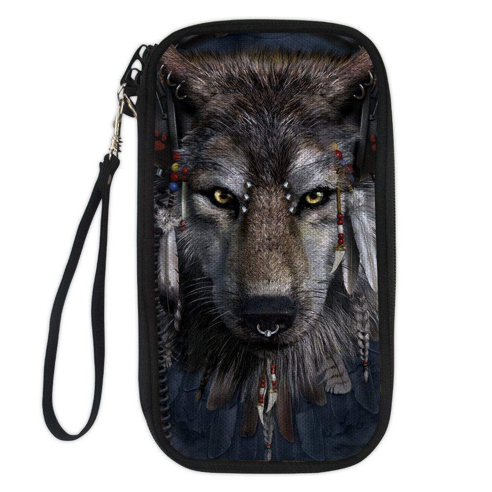 Wolf Creature Fantastic Leather Passport Holder Cover Case Travel One Pocket