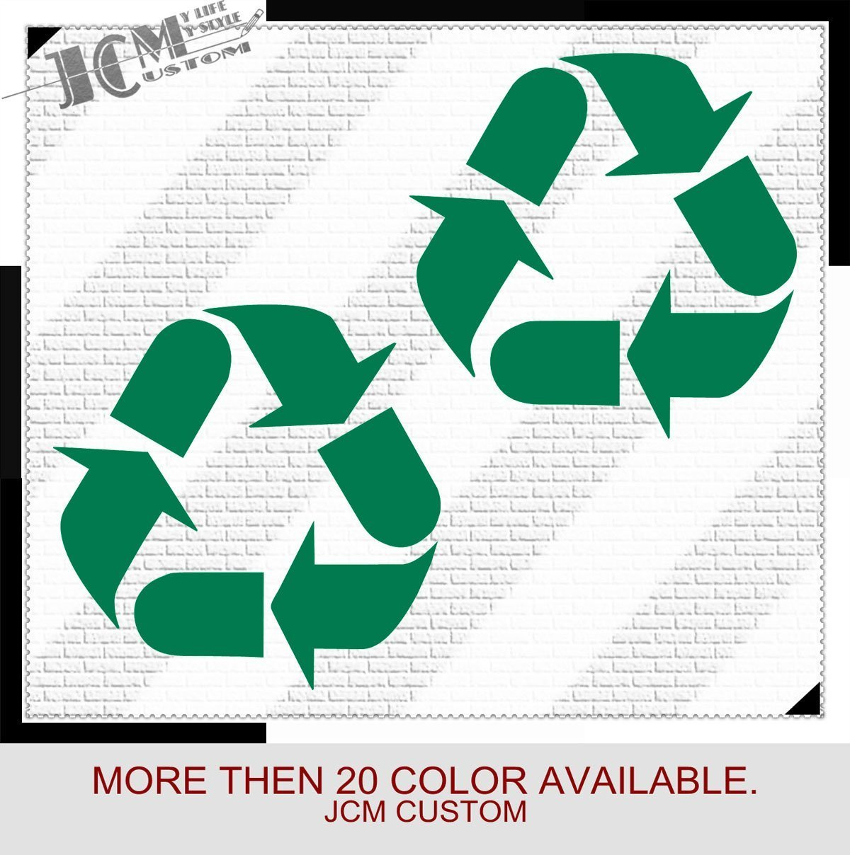 Amazon com jcm custom recycle recycling symbol removable trashcan vinyl decal sticker green 4wx4l home kitchen
