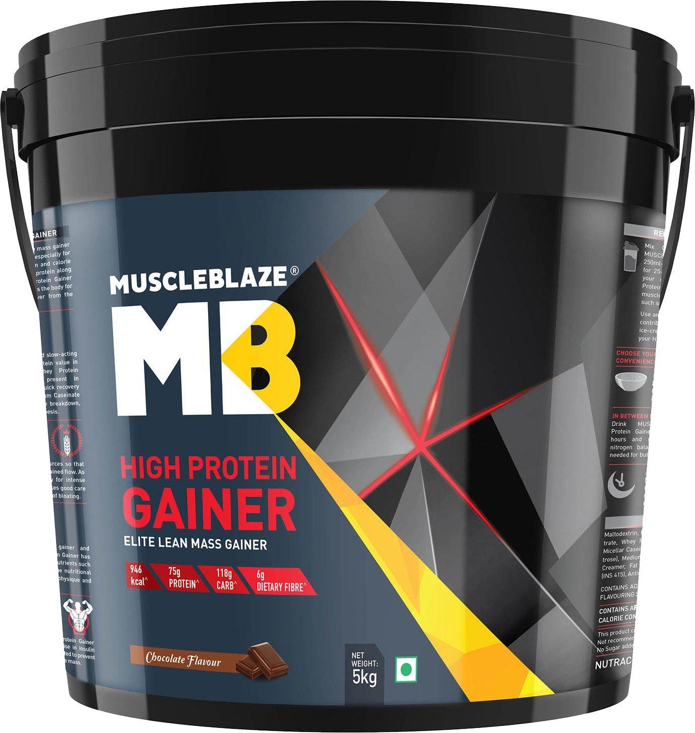 MuscleBlaze High Protein Lean Mass Gainer 11 lb Chocolate