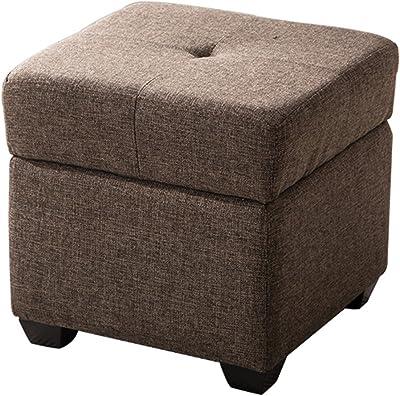 Groovy Amazon Com Storage Stool Lxf Ottomans Linen Material Foot Creativecarmelina Interior Chair Design Creativecarmelinacom
