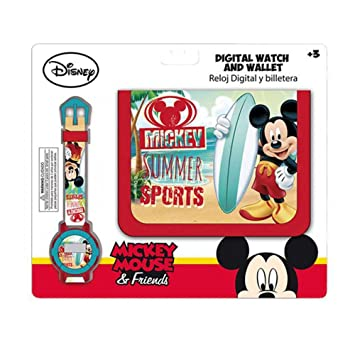 Mickey Mouse Mickey - Set de Billetera + Reloj Digital: Amazon.es: Juguetes y juegos