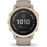 Garmin fenix 6S Pro Solar, Smaller-Sized GPS Watch, Features Mapping, Music, Grade-Adjusted Pace Guidance and Pulse Ox…