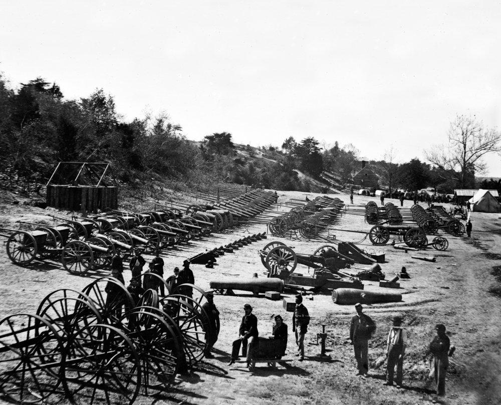 Appomattox川、VA – 砲公園on Broadway Landing Civil War写真 36 x 54 Giclee Print LANT-21061-36x54 36 x 54 Giclee Print  B01MG3PDQU