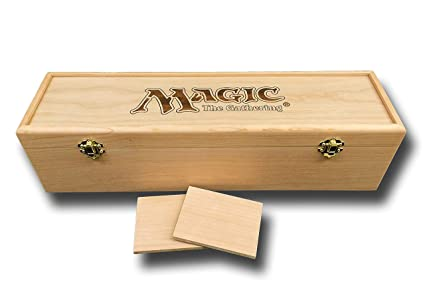 Designcraft Industries Magic The Gathering Engraved Deck Box With Hinges 2 Latches 16 34x4 12 X4 14 Cherry Box