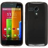 PhoneNatic Custodia Motorola Moto G Cover nero trasparente Moto G in silicone + pellicola protettiva