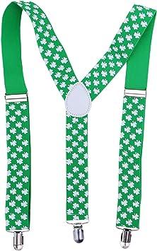 BESTOYARD Colgantes para el día de San Patricio Verde para Hombres Tirantes de trébol de Las Mujeres Accesorios para el día de San Patricio Accesorios para Desfile: Amazon.es: Juguetes y juegos
