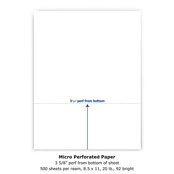 amazon com printworks professional perforated paper for statements